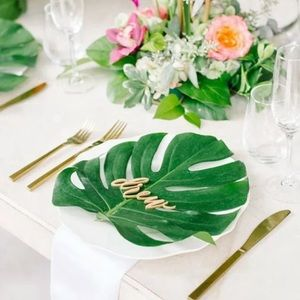 Other - Tropical Leaf Decor 12 Pieces